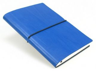 Ciak Blue ruled leather notebook